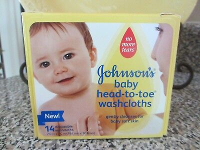 Johnson's Baby Head-to-Toe Disposable Washcloths 14 Count