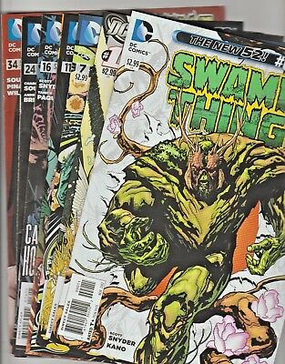 DC The New 52! Swamp Thing     #'s 0,1,7,11,16,24 & 34