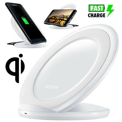 Wireless Qi Fast Charger Charging Stand Dock Pad For Samsung Galaxy S8/S9 Plus