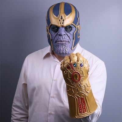 The Avengers 3: Infinity War Thanos Latex Gauntlet Mask & Glove Cosplay Prop Toy