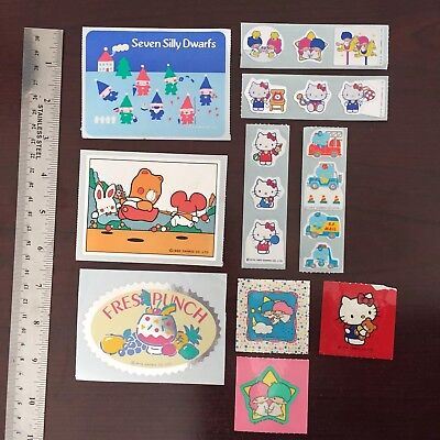 Vintage Sanrio Stickers - Hello Kitty, Little Twin Stars and others