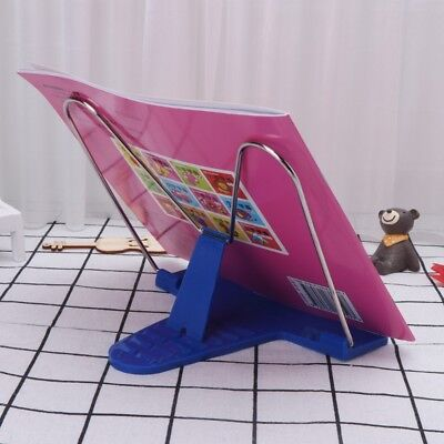Portable Book Stand Metal Adjustable Angle Document Reading Foldable Bookend