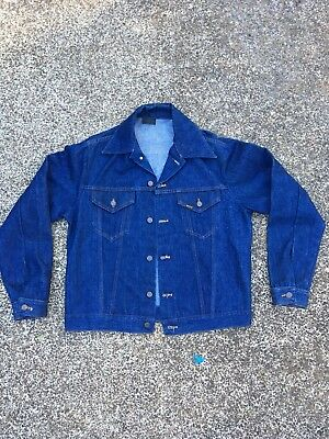 b8f18f8740 Vintage Sears Roebuck Denim Jacket large 50 s 60 s 70 s Western Wear Levis  jean