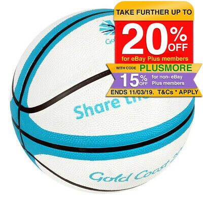 Summit Gold Coast 2018 Size 7 Basketball Rubber Ball Training Indoor/Outdoor