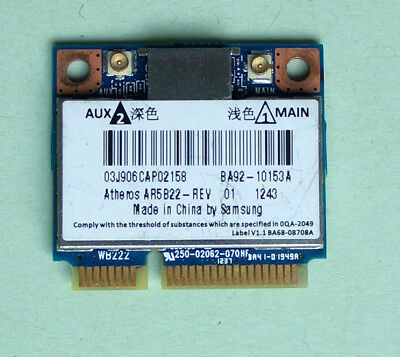 Samsung 535U3C WiFi Card BA92-10153A Model AR5B22   802.11a/b/g/n Bluetooth 4.0