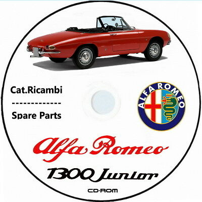 Alfa Romeo Spider Junior.Catalogoricambi.Spare Parts Alfa Romeo Spider 1300