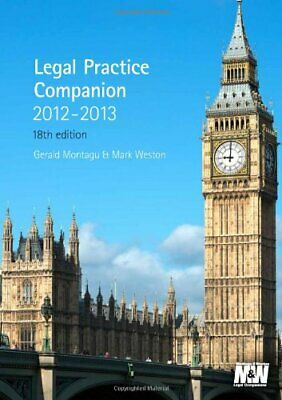 Legal Practice Companion 2012/13 by Mark Weston Book The Cheap Fast Free Post
