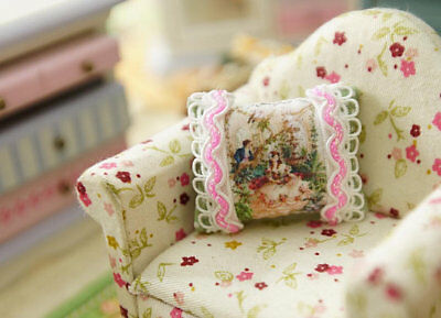 Romantic Lovers 1:12 Scale Miniature Pillow For Dollhouse