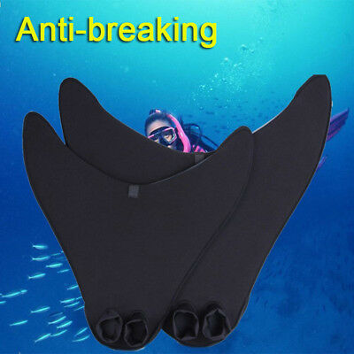 Kids/Adults Flexible Mermaid Swimming Diving Monofin Tails Fins Training Flipper