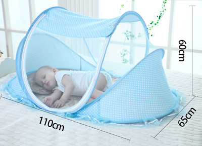 Specially For Summer Collapsible Baby Mosquito Net Blue & Pink Insect Net