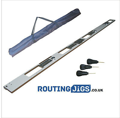 Adjustable Hinge Jig kit includes 16mm Trend guide bush and bradawls + FREE bag