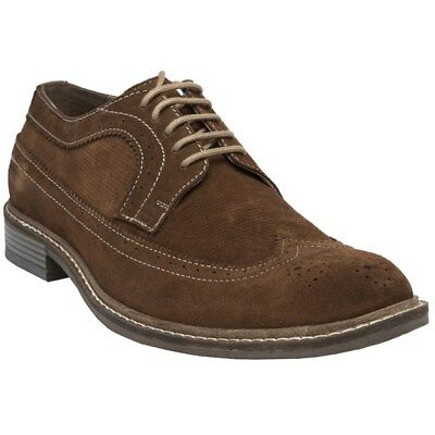 New Mens Lotus Tan Wentworth Suede Shoes Brogue Lace Up