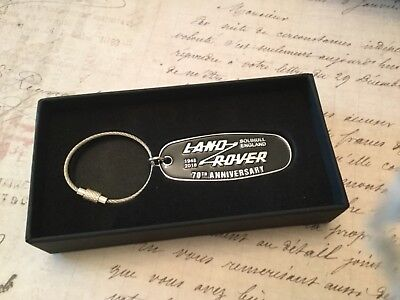 LAND ROVER 70th ANNIVERSARY KEY RING FOB DEFENDER 90 110  COLLECTABLE DISCOVERY