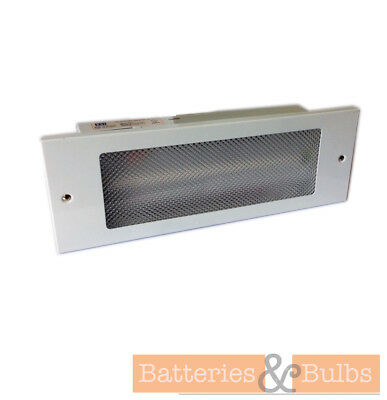 """Recessed Non - Maintained Emergency Lighting Bulkhead 12"""" 8w White CED E8NM3REC"""