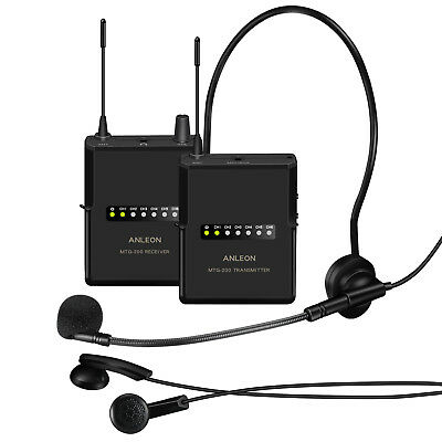 ANLEON MTG-200 wireless tour guide language translation system 915Mhz