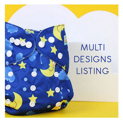 Alva One-Size Washable Nappies | Multi Designs | Best Selling Reusable Nappy