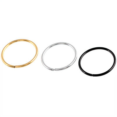 Surgical Steel Hinge Segment Nose Ring Septum Clicker Ear Helix Tragus Ring Hoop