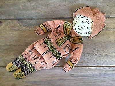Vintage Felt Boy Scout Doll As Is