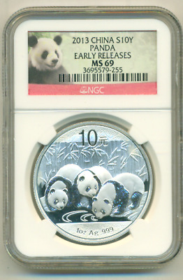 2013 - NGC MS 69 EARLY RELEASE China Panda