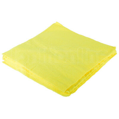 10x Yellow EDGELESS Microfibre Buffing Cloths Car Cleaning Wax Wash Polish Towel