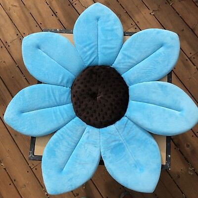 Authentic Blooming Bath Sink Mat Turquoise Brown Excellent Condition