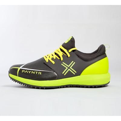 Payntr Cricket Evo Pimple Rubber Cricket Shoes in Black & Yellow (UK Sizes 8-11)