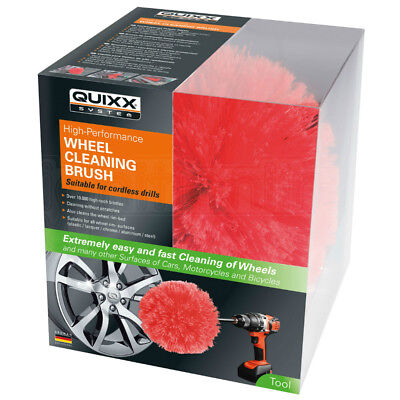 Quixx Wheel Cleaning Brush Car Motorcycles Alloy Soft Flexible Bristle Valeting
