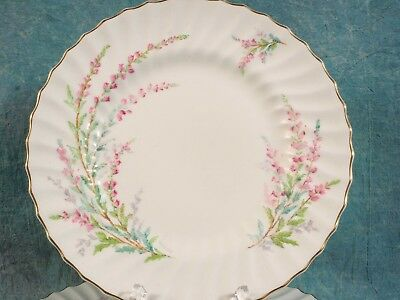 Vintage Royal Doulton BELL HEATHER SCALLOPED Gold Rim Dinner  Plate 1940 SIGNED