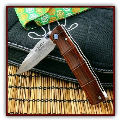 MCUSTA Take Classic Damascus/Cocobolo Linerlock Folding Knife  MC-0074D