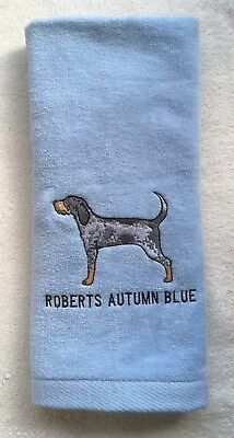 Bluetick Coonhound, Hand Towel, Embroidered, Custom, Personalized, Dog