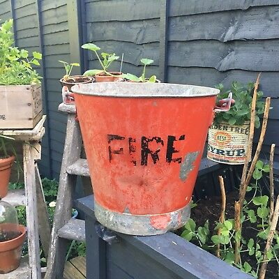 Traditional Old Vintage Metal Fire Bucket
