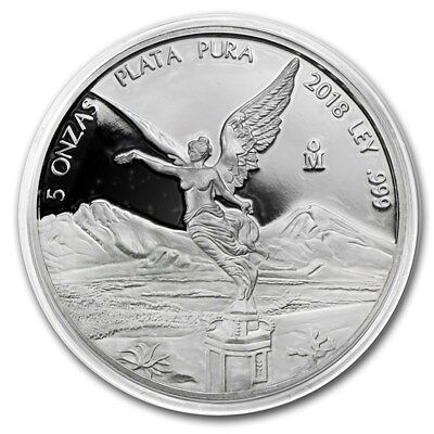 *SALE* PROOF LIBERTAD - MEXICO - 2018 5 oz Proof Silver Coin in Capsule