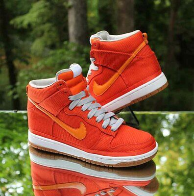 separation shoes 27f7a abd49 Nike Dunk High Supreme Orange Blaze 324759-881 Men s Size 8