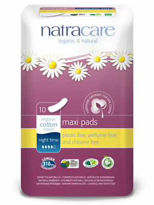 Maxi Pads Night Time x10 pads (Natracare)
