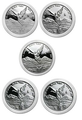 PROOF LIBERTAD MEXICO - 2018 1 1/2 1/4 1/10 1/20 OZ Proof Silver Coin Capsule