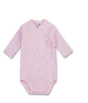 Sanetta Swaddling Bodysuit Long Sleeved Feathers Pink Gr 56 62 68 Baby Body