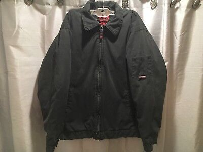 Independent Truck Company Black and Red Canvas Mechanics Jacket Mens Size Medium