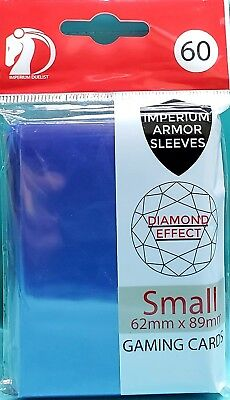 Blue 60 IMPERIUM HOLOGRAPHIC Card Sleeves Yu-Gi-Oh Vanguard Card Protectors