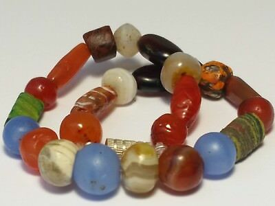 A Beautiful Bracelet Of Ancient And Antique Beads ( Agate, Etched Carnelian...)