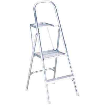 Peachy Werner Co 264 4 Foot 2 Step Ladder Folding Stool Aluminum Inzonedesignstudio Interior Chair Design Inzonedesignstudiocom