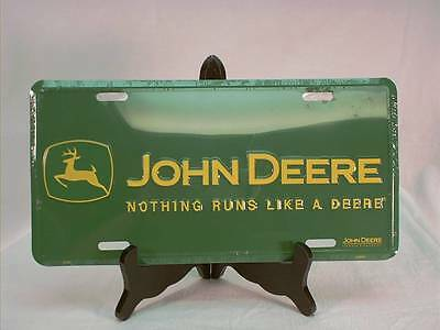 "John Deere Green Lic.Plate ""Nothing runs like a Deere"""