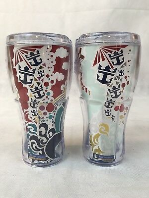Pair Of Whirley Coca Cola Royal Caribbean Tumblers 2013 Pre Owned