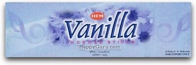 """Vanilla"" 200 Incense Sticks (25 Square Packets) HEM Brand Sandalwood Incense ॐ"