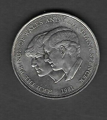 UK, 1981 Prince of Whales and Lady Diana Spence Commemorative Coin - Excellent !