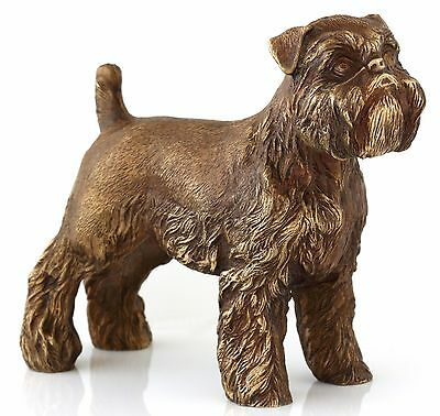Brussels Griffon Bronze Sculpture Russian Art Dog Statue Animal Figurine 4 1/2""