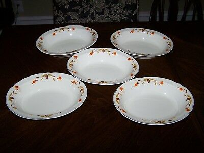 "Jewel Tea, Hall China, ""AUTUMN LEAF"", 10½"",Oval, Vegetable Serving Bowls (5)"