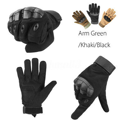 1 pair Touch Screen Military Tactical Airsoft Hard Knuckle Full Finger Gloves