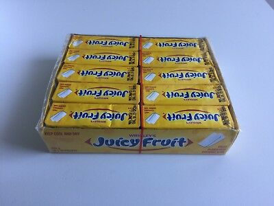 Wrigley's Chewing Gum Juicy Fruit Original 30 x 10 pellets BRAND NEW
