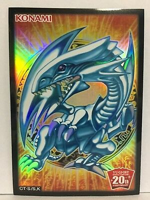 Yugioh Card Sleeve Protector : Blue-Eyes White Dragon / 10pcs / 20th Aniversary