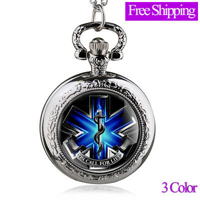 New Arrivals Jewelry Antique Bronze On Call For Life Pocket Watch Pendant Gift